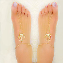 1pc Nice Barefoot Ankle Gold Stunning Excellent Chain Anklet Bracelet Crochet Barefoot Sandals