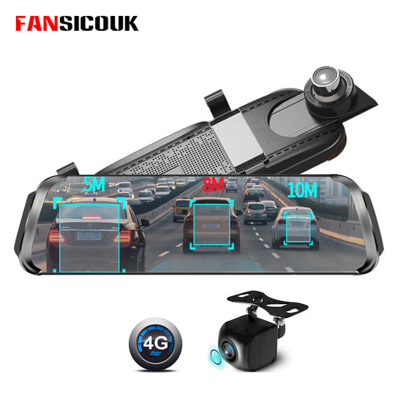 FANSICOUK 3G/4G ADAS Android Car Dvr 10''Stream Media Rearview Mirror Dash Camera GPS FM Video Recorders Free 32GB SD Card 787