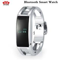 สาวของบลูทูธสมาร์ทนาฬิกานาฬิกาคลาสสิกสุขภาพโลหะS Mart W AtchสำหรับสำหรับiPhone/Samsungโทรศัพท์สมาร์ทวงHTCดิจิตอลนาฬิกา