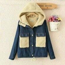 Japanese kimono slim hippie cotton cowboy jeans blue giacche donna denim harajuku chaqueta women autumn winter thick jacket coat