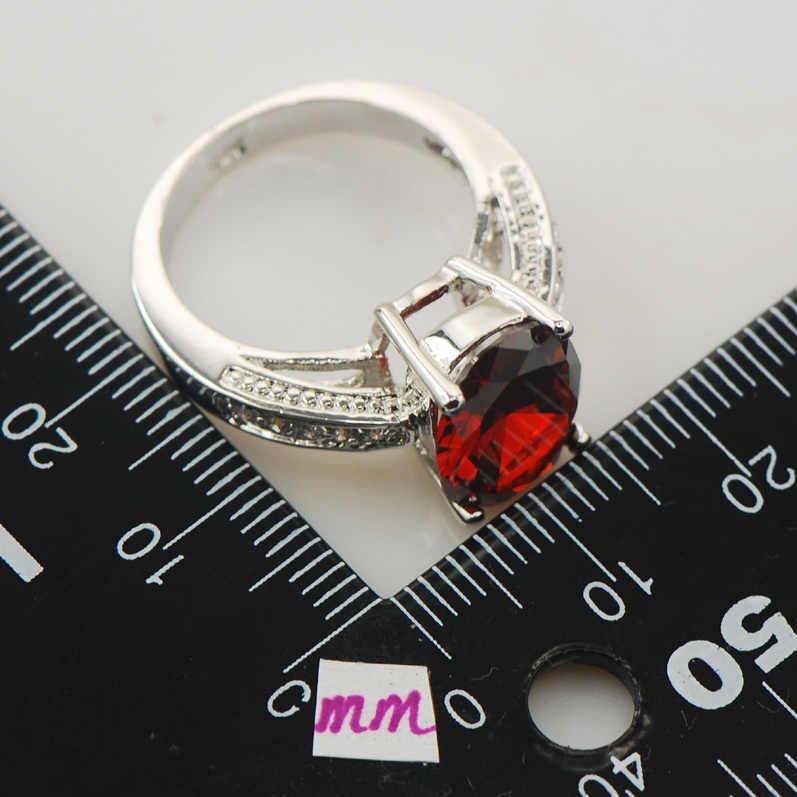 โกเมนแฟชั่นผู้หญิง925แหวนเงินF851ขนาด5 6 7 8 9
