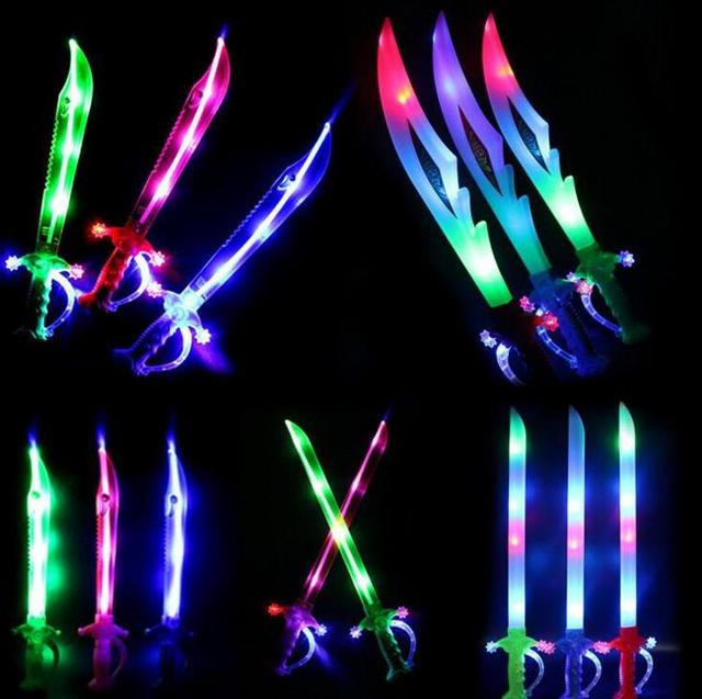Light up ninja swords motion activated sound flashing for 13th floor glow stick