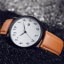 Fashion Women Watch Unique Arabic Numbers Watches Men Classi