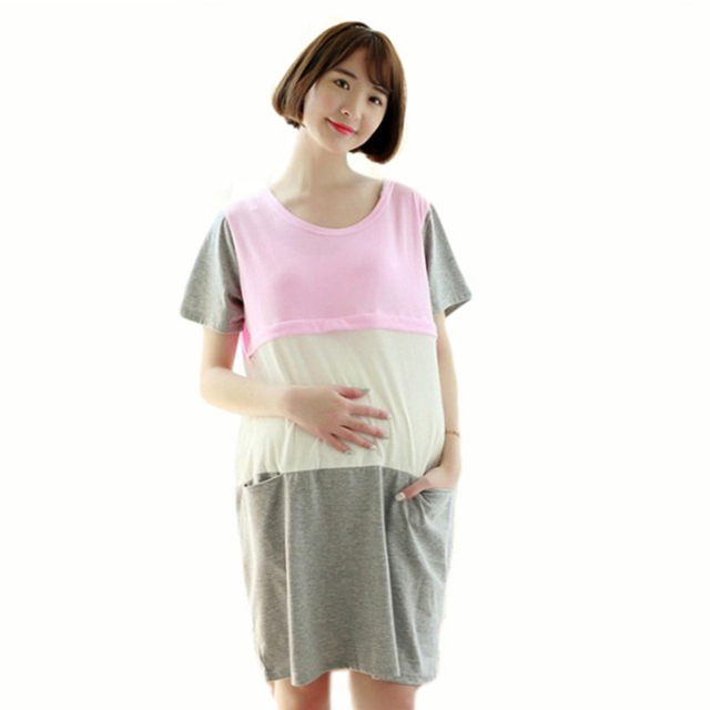 2in1 Womens Pregnancy Nursing Nightdress Robe Nursing Pajamas