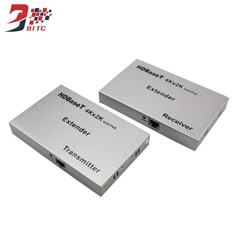 SZBITC HDMI Extender Ethernet HD 4kx2k Double Cat5/6 100M Launcher+Receiver Full HD Support 3D
