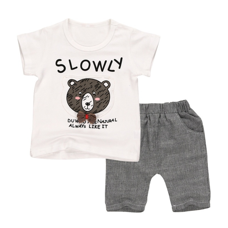 Newborn Baby Boy Girl Summer Clothes Set Cotton Baby Short Sleeve Shirt+Pants 2 Pcs Outfits newborn infant baby boy girl clothes hooded vest top short pants outfits set 2pcs suit summer baby boy clothes