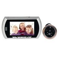 4.3 Inç Video Kapı Zili LCD Dijital Peephole Elektronik Göz için 120 Derece IR Kamera Kapı Zili Ev Apartman F1622D