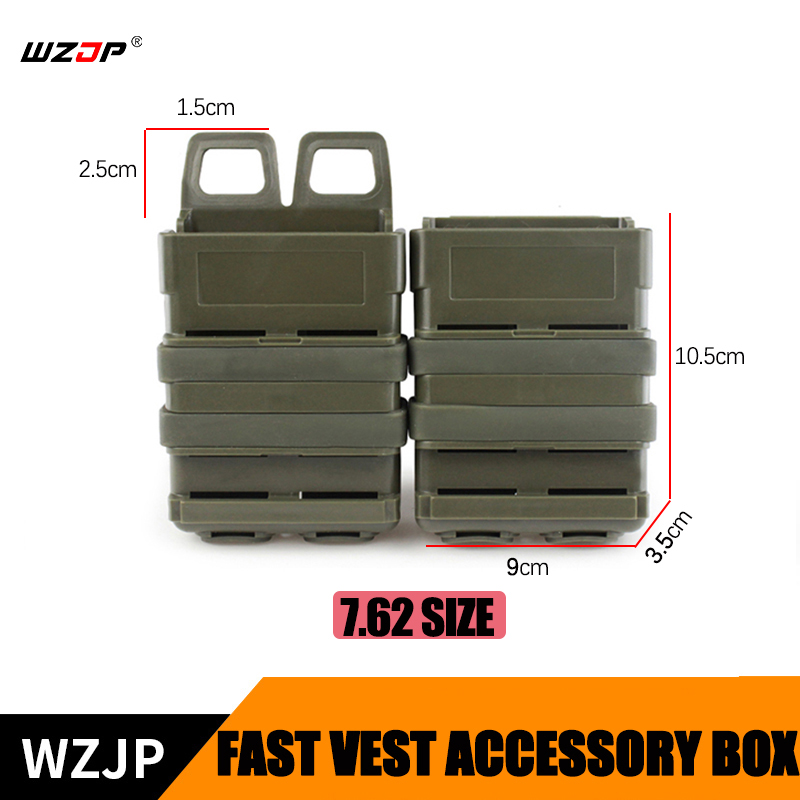 Shooting Wzjp Tactical Airsoft Fast Mag Vest Accessory Box Fast Magazine Holster Set Molle Mag Clip 7.62 Fast Mag Magazine Pouch Case Possessing Chinese Flavors Sports & Entertainment