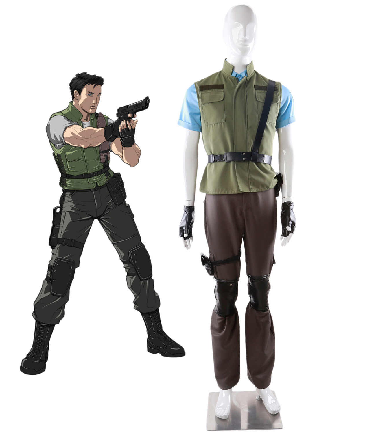 Chris Redfield Cosplay Resident Evil 1 Chris Redfield
