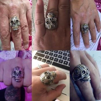 Solid 925 Sterling Silver Vintage Skull Ring 4
