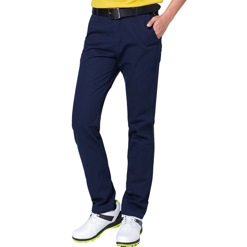 Golf Club Mens Pants Mid Waist Breathable Golf Trousers For Men Slim Fit Full Length Comfort