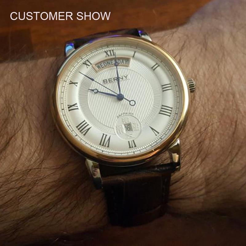 Berny Cuarzo Amante Relojes Moda Top Marca de Lujo Relogio Saat - Relojes para hombres - foto 5