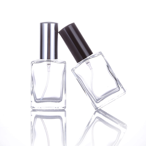 30ml glass perfume bottle mini portable travel can be filled with perfume atomizer bottle color spray perfume pump shell(China)