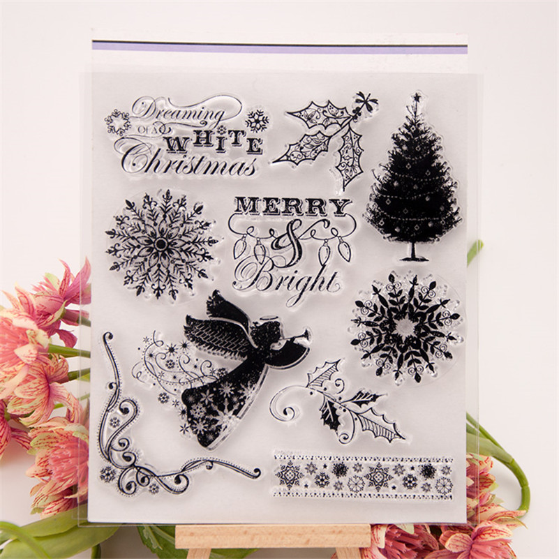 scrapbook DIY paper card Merry with you clear STAMPS FOR PHOTO scrapbooking stamp for christmas wedding gift RZ-123 clear acrylic a3a4a5a6 sign display paper card label advertising holders horizontal t stands by magnet sucked on desktop 2pcs