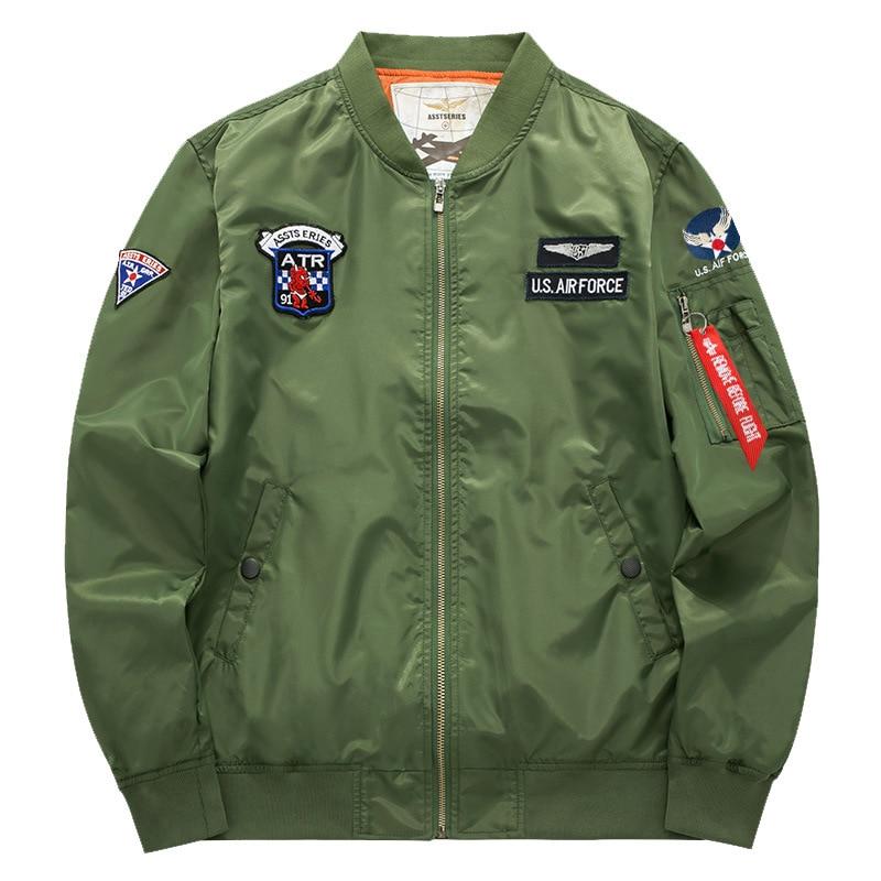 HRRPS Men Tactical Pilot Bomber Flight Jacket Warm Airborne Air Force Padded Coat