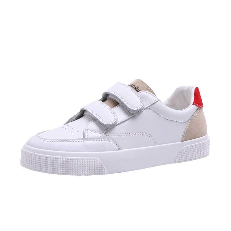 TANGNEST נשים מטפסי 2019 מוצק עור מפוצל גבירותיי נעלי אביב מזדמן וו לולאה שטוח נוח בוהן עגול הנעלה XWD7425