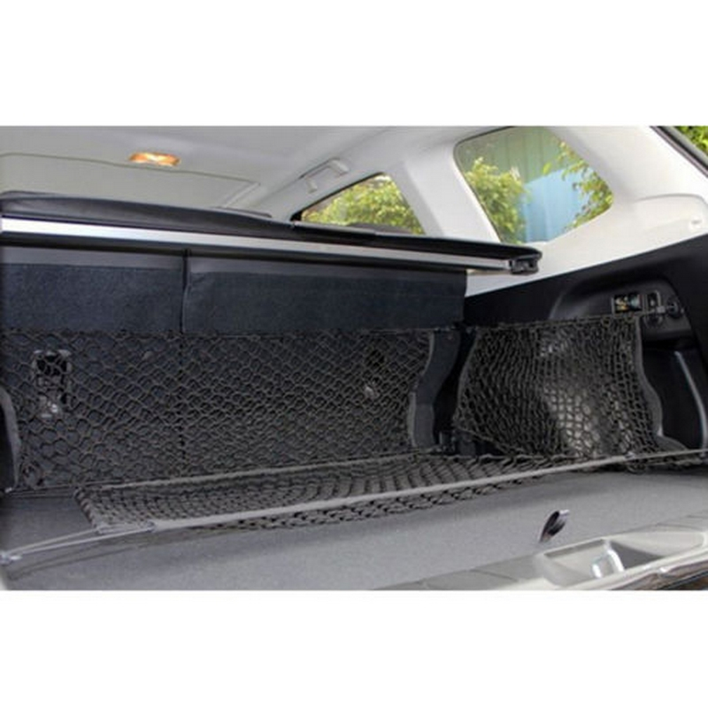 Image 4 - 90cm x 40cm Car Seat Back Storage Mesh Elastic Net Bag Double Layer Vertical Shielding Net Trunk Organizer Protected Rear Door-in Stowing Tidying from Automobiles & Motorcycles