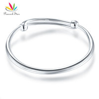 Solid 990 Silver Plain Bangle Bracelet Baby Kids Children Gift Adjustable Size CFB8002