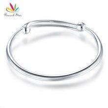 Павлин звезда твердого 990 Silver обычный браслет Детские Детский подарок Регулируемый Размеры CFB8002