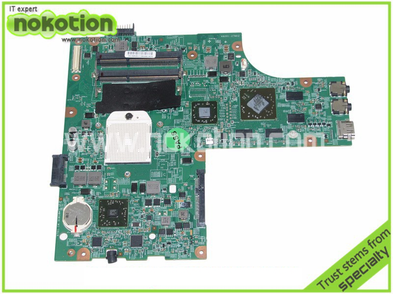 NOKOTION 48.4HH06.011 laptop motherboard for board Inspiron 15R M5010 CN-0HNR2M 0HNR2M HNR2M ATI Mobility Radeon HD 4650 cn 0hnr2m for dell inspiron 15r m5010 laptop motherboard 48 4hh06 011 amd ddr3 free shipping 100