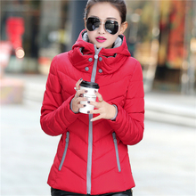 Wadded Clothing Female 2016 New Women's Winter Jacket Down Cotton Jacket Slim Parkas Ladies Coats Plus