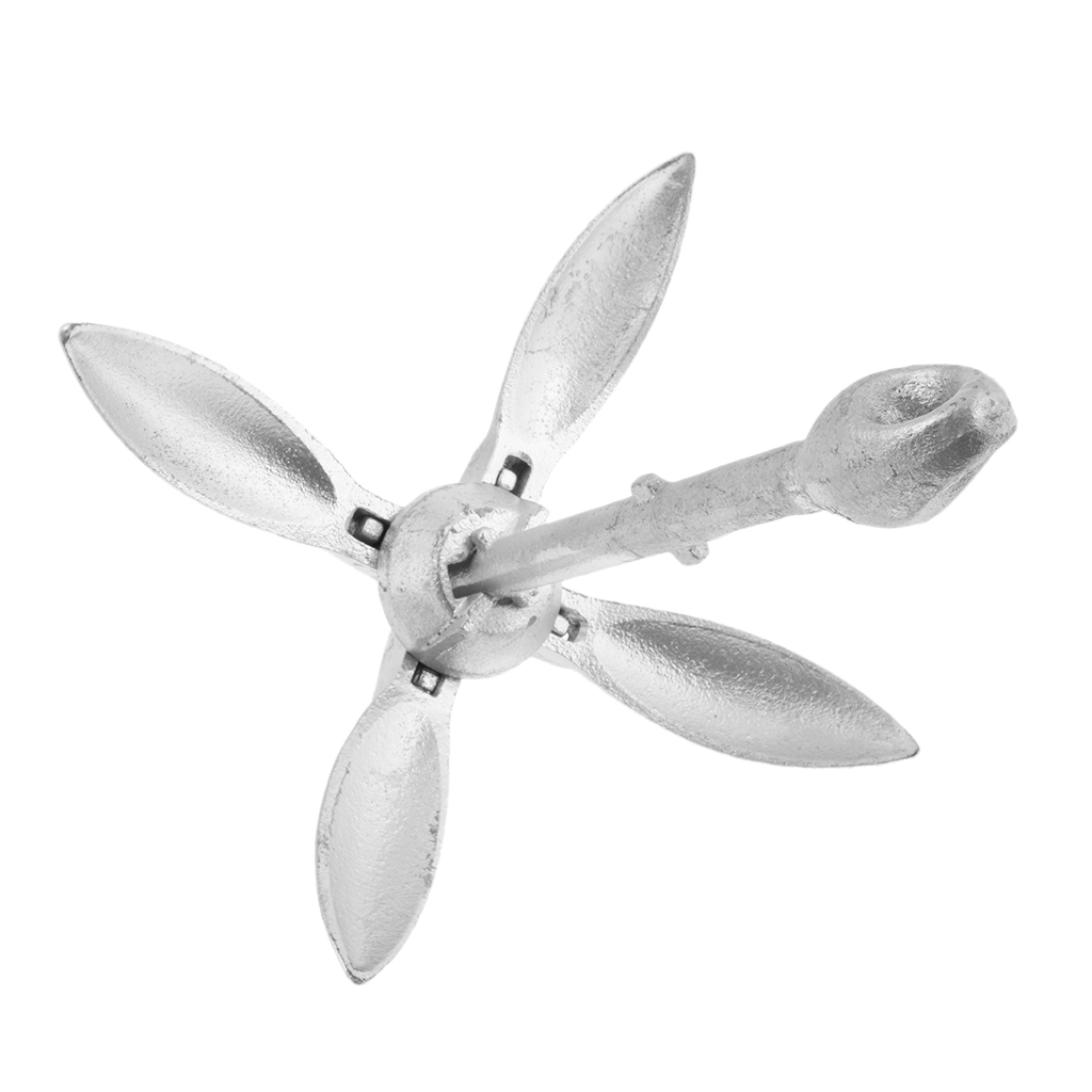 Boat Folding Grapnel Anchor 1.5 Lb Marine Yacht Anchor Stainless Steel цена
