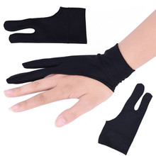 Black Drawing Glove For Artist Any Graphics Drawing Tablet 2 Finger Anti-fouling Both For Right And Left Hand 2 pens parblo a610 10 extra nibs graphics drawing digital tablet 2048 level good as huion h610 pro anti fouling glove