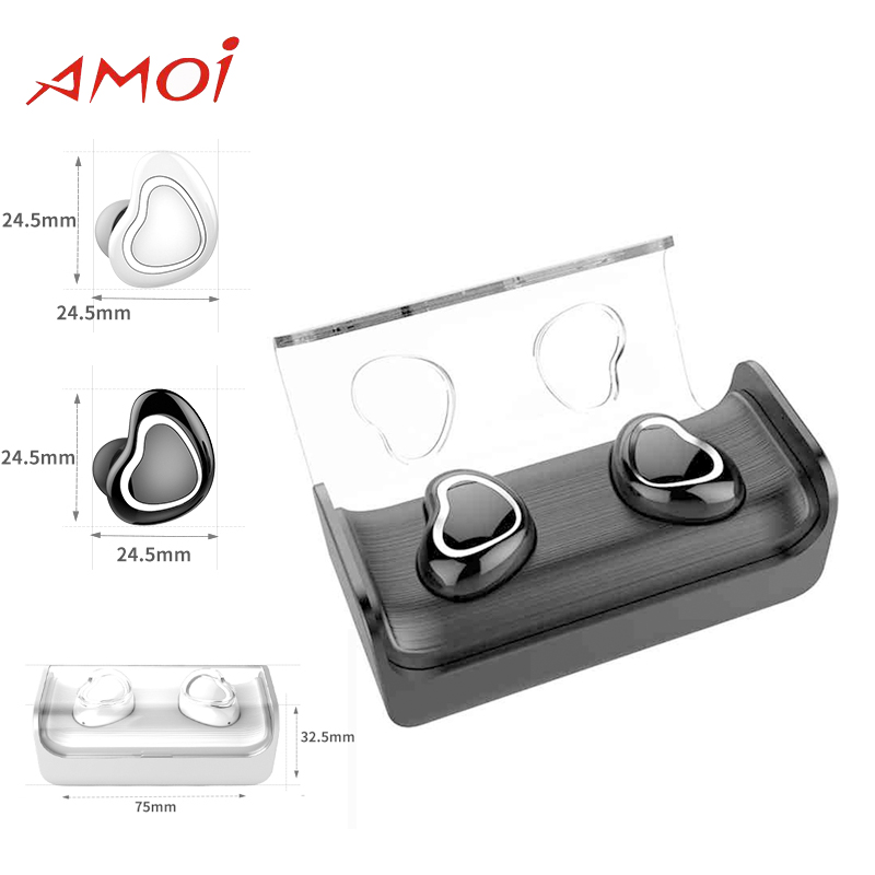 Original Amoi Bluetooth Wireless S7 Headset for Galaxy S8 S8P S9 S9 Plus with Bluetooth V4.2 noise Reduction Sport Earphone купить недорого в Москве