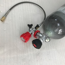 CRPIII-145-6.8-30-T airrefile 6.8L new Carbon Fiber Cylinder on Sale with great valve and red filling station contain hose-K