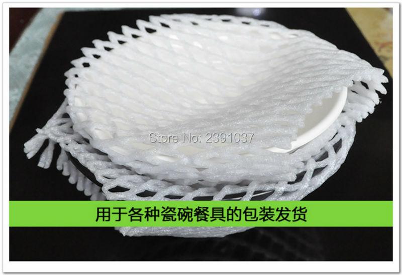 6db1547fabc Al por mayor nueva 14 cm   7 cm 840 unids fruta espuma blanca EPE Mesh foam  manga Net gruesa fruta espuma manga para el material de embalaje de Apple
