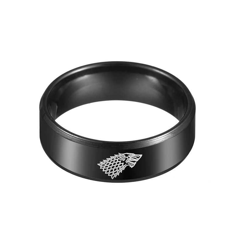 PUN punk kurt parmak erkek ruh tungsten vintage yüzük siyah knuckles elemanı paslanmaz çelik yüzük erkekler takı aksesuarları