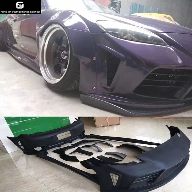 RX-8 <font><b>RX8</b></font> Wide Car body kit FRP Unpainted front bumper rear bumper side skirt Wheel eyebrow for Mazda RX-8 04-08 image