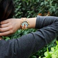 Reloj madera mariposas con caja de madera 4