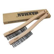 все цены на 13.8inch brush carbon steel&Stainless-Steel Wire Scratch Brush 3x19 rows for Industrial Devices Surface Polishing Cleaning Brush онлайн