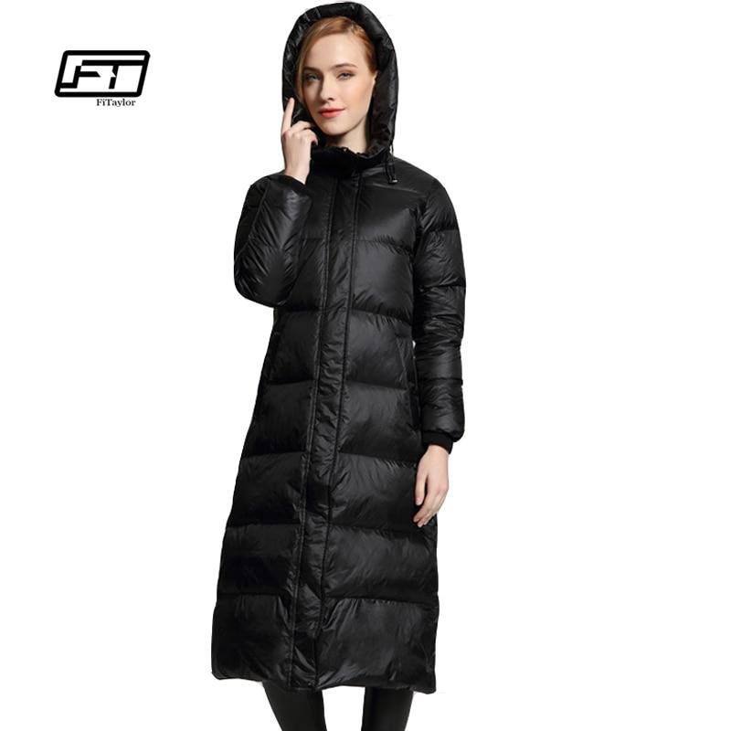 Fityalor Winter Jacket Women   Down     Coats   Parkas Hooded Casual Plus Size Overcoats Long Warm Casual Snow Outwear