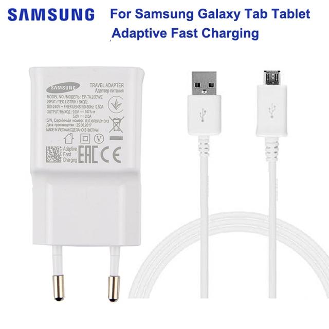 Original de SAMSUNG Tablet cargador rápido 5 V 2A para Samsung GALAXY Tab A 10,1 T585C T350 Tab A 9,7 T555C t550 Tab S2 T819C T710