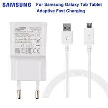 SAMSUNG Original Tablet Fast Charger 5V 2A For Samsung GALAXY Tab A 10.1 T585C T350 Tab A 9.7 T555C T550 Tab S2 T819C T710 синий цветок стиль тиснение классический откидная крышка с подставкой функция и слот кредитной карты для samsung galaxy tab a 9 7 t550