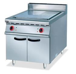 Super jakość ze stali nierdzewnej elektryczny griddle z szafy 1/3 rowkowane gorąca płyta wolnostojący płyta do gotowania z rowkiem patelni