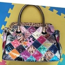 Caerlif geschenk für mom frauen handtaschen schulter crossbody taschen aus echtem leder tasche bolsas damen tote beutel mosaic bunte schlange tasche