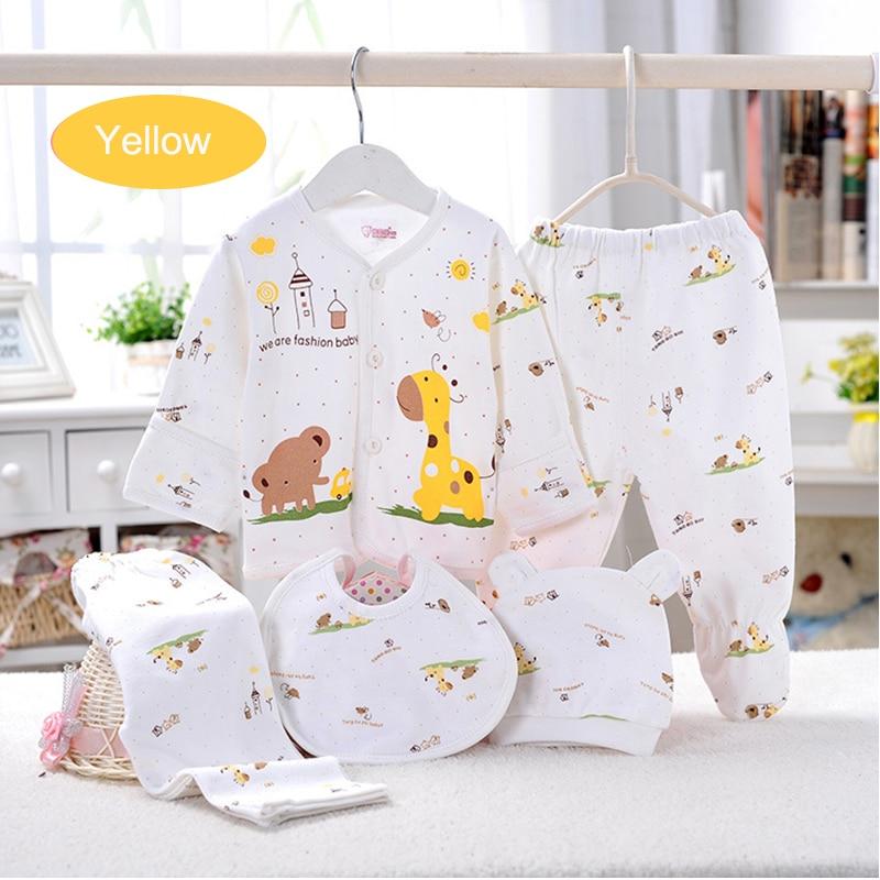 (5 sztuk / zestaw) noworodka Zestaw 0-3 M Zestaw Odzieżowy Marki - Odzież dla niemowląt - Zdjęcie 2