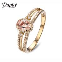 Dupuy 14K Rose Gold Ring 6*8mm 1.4ct Oval Brilliant Grown Morganite Diamond Ring Engagement Wedding Ring For Women D180061