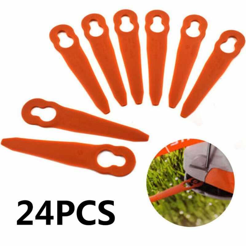 24 piezas de hoja de plástico oscilante colgantes de césped inalámbrico de litio