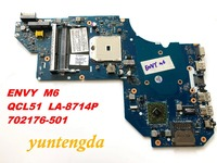 Original FOR HP ENVY M6 laptop motherboard QCL51 LA 8714P 702176 501 tested good Free shipping
