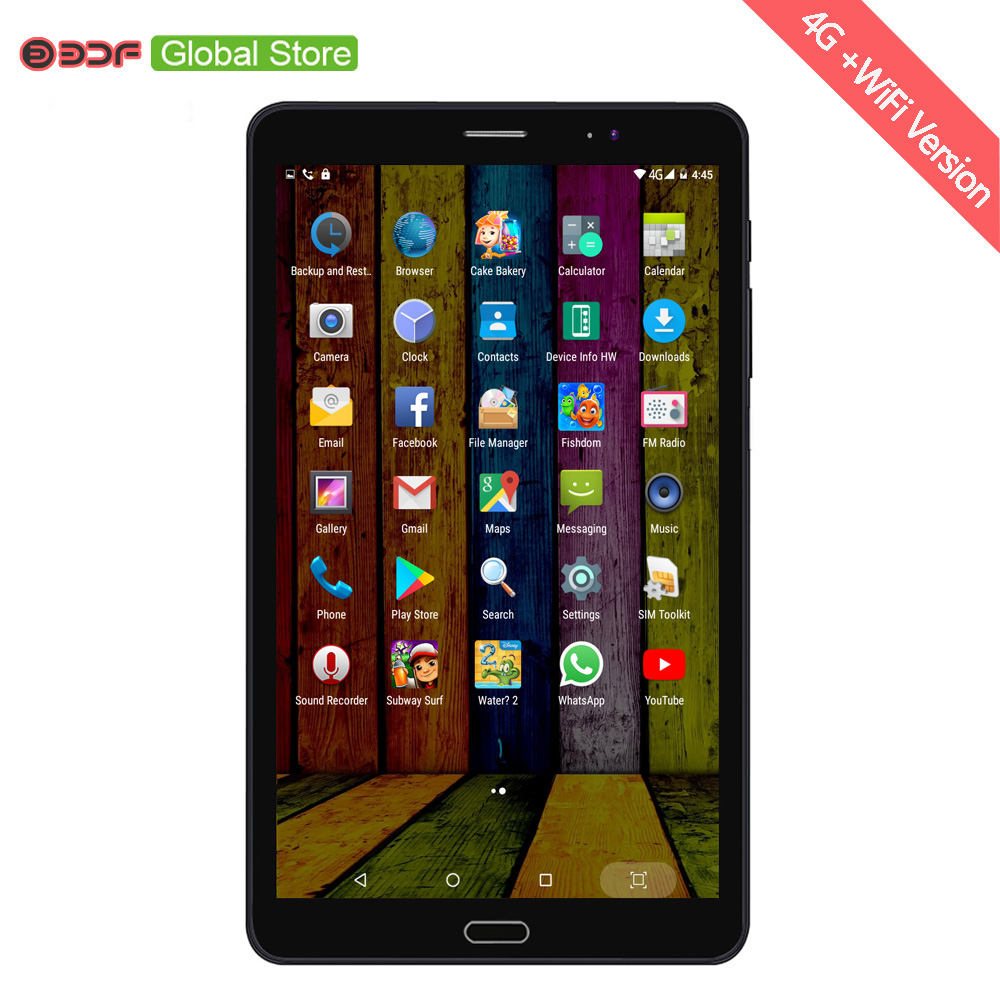Nice Design 8 Inch Android Tablet Pc 2GB+16GB 4G 3G LTE Sim Mobile Phone 5Mp+12Mp Real Camera 1920*1200 IPS Display Android 6.0