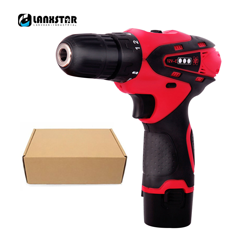 Rechargeable Electric Drill 16.8V Cordless Electric Screwdriver Multifunctional Household Wireless Lithium Electric Drill Set