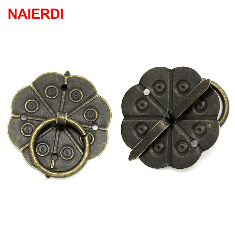 10PCS NAIERDI Bronze Tone Handles Drawer Cabinet Desk Door Pull Jewelry Box Handle Knobs With Screws For Furniture Hardware