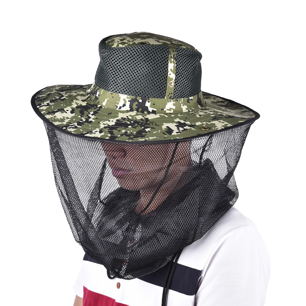 Mosquito Net Cap Midge Fly Bug Insect Bee Hat Head Face Mask Neck Protection Fishing Hat Outdoor Jungle Camping Hiking Hunting naturehike outdoor anti mosquito head protection mesh fabric head cover mask black