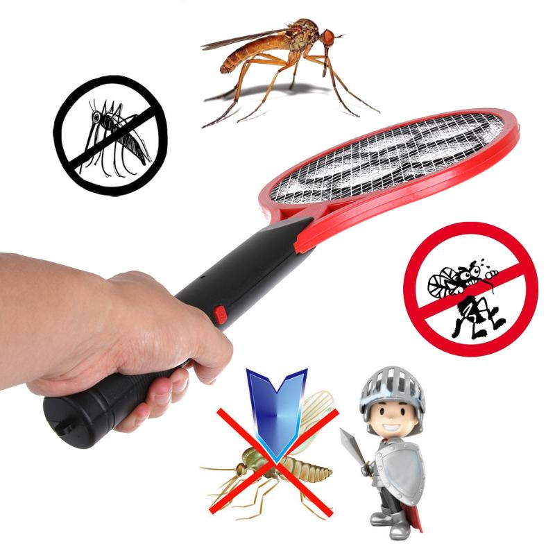 2 batterie AA Operated Mano Racchetta Della Zanzara Elettrica Swatter Dell'insetto Casa Giardino Pest Bug Fly Zanzara Zapper Swatter Killer