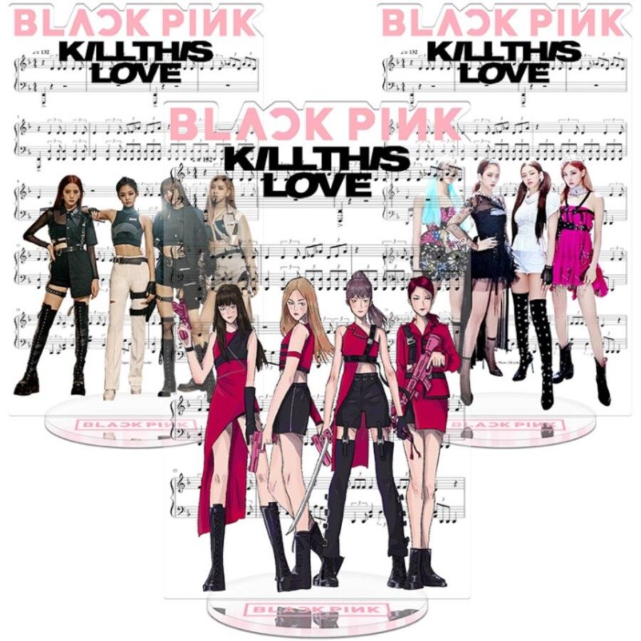 Kpop Blackpink Kill This Love Acrylic Figure Doll Jennie Lisa Standing Action Table Decor 21cm Blink