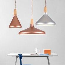 ФОТО American simple postmodern wooden pendant lamp Metal Pendant Lamp Fixture